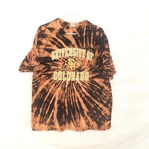 University of Colorado Custom dyed tshirt